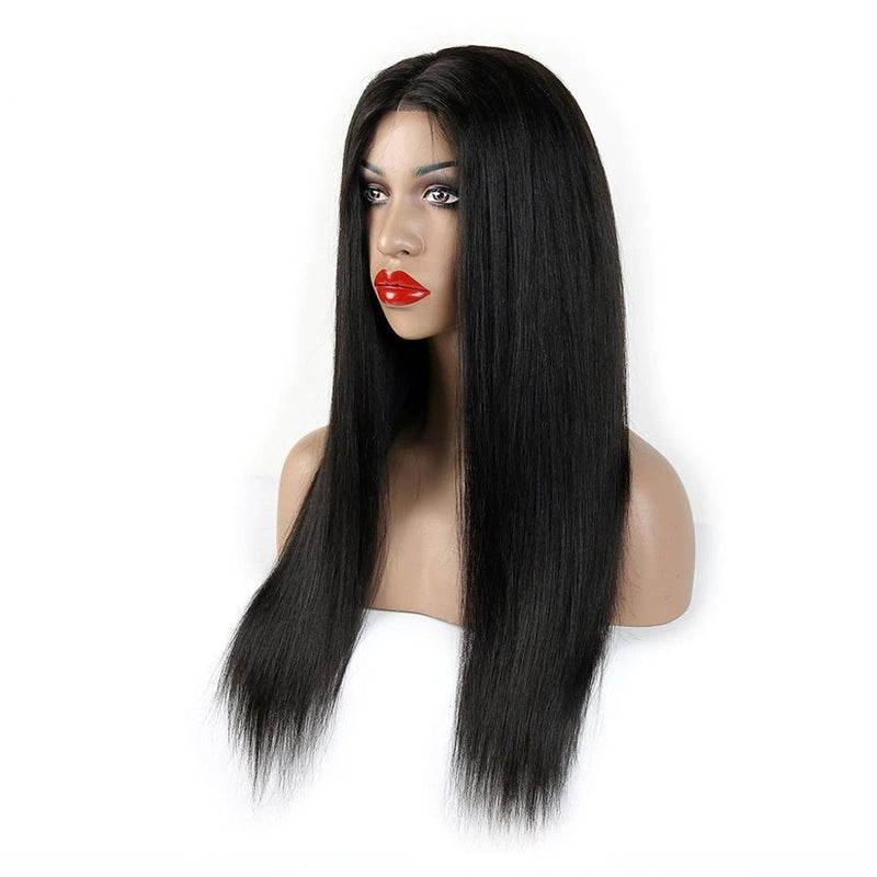 Straight Silk Base Full Lace Human Hair Wigs