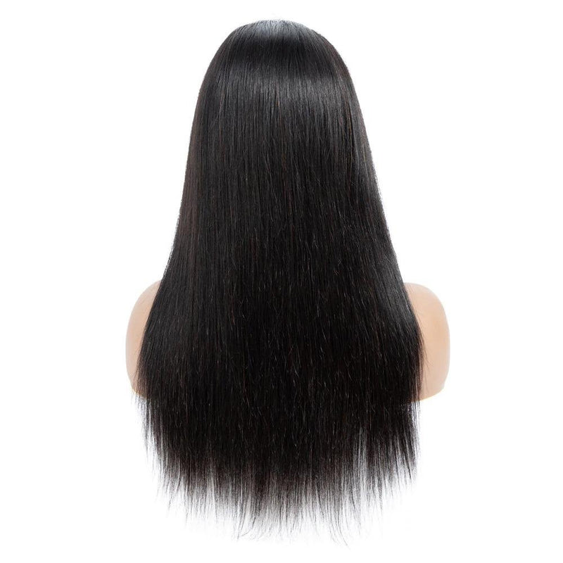 Straight Silk Base Human Hair Lace Front Wigs