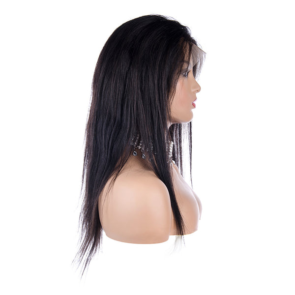 Black Full Lace Wig Human Hair, right side
