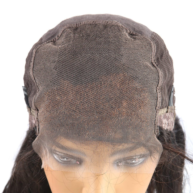 Natural Black Long Straight Human Hair Lace Front Wig 5*5 Lace