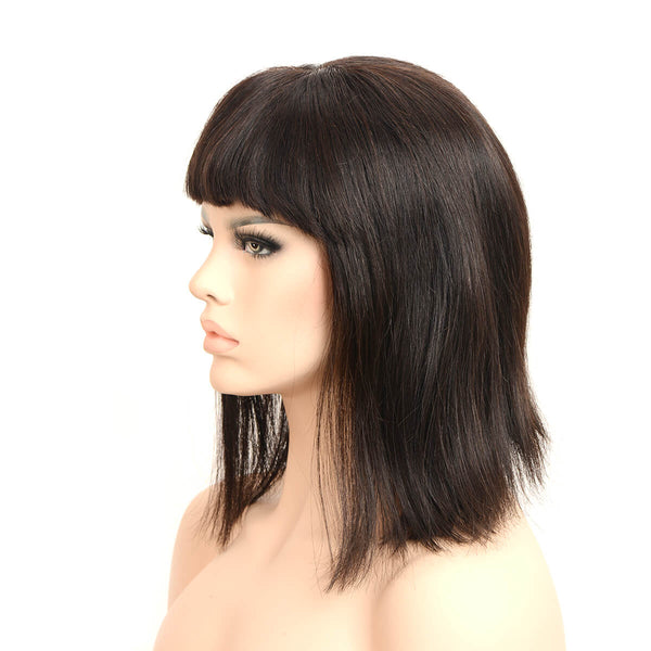 black wigs with bangs left side