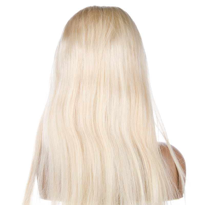 Blonde Full Lace Wig Human Hair Back | CREAMY