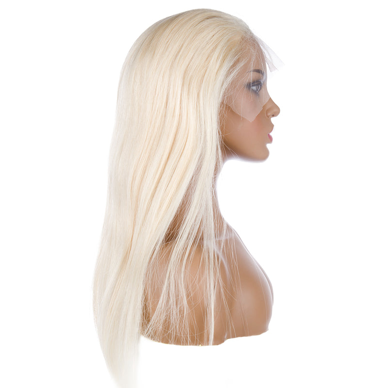 Blonde Full Lace Wig Human Hair Right Side| CREAMY