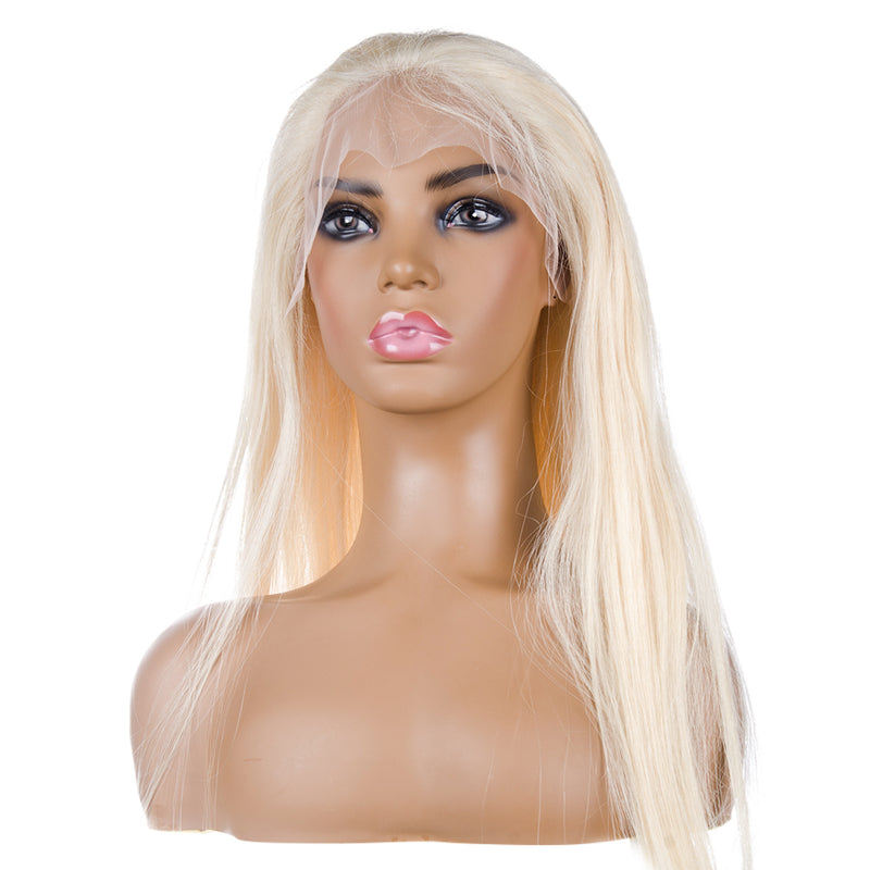 Blonde Full Lace Wig Human Hair | CREAMY
