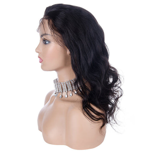 Body Wave Full Lace Wig Human Hair, left side