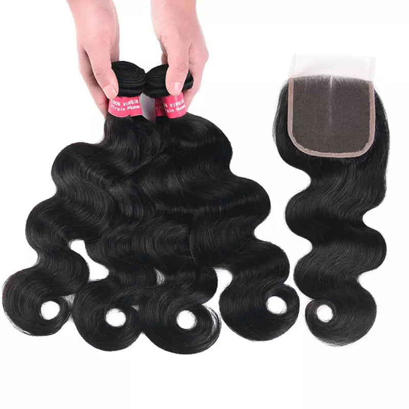 30% Off Pack Sale | 3 Human Hair Bundles with Lace Frontal