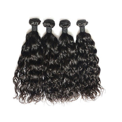 100% human virgin 9a natural wave hair bundle