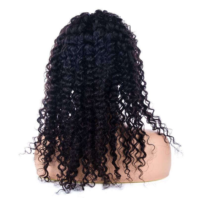 Deep Curly Full Lace Wig Human Hair Back| INSPIRE