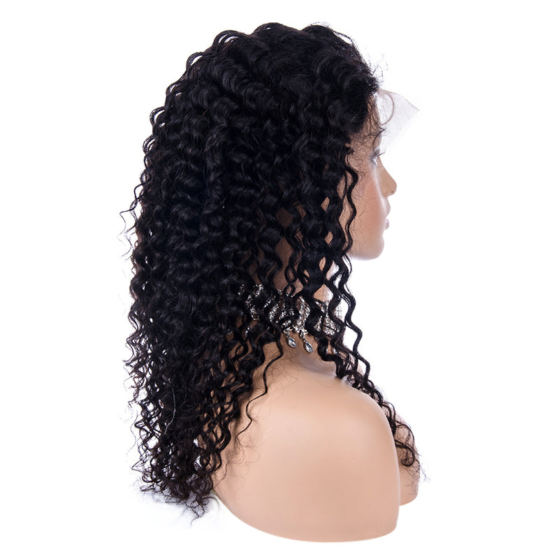 Deep Curly Full Lace Wig Human Hair Right Side| INSPIRE