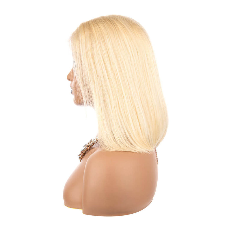 Full Lace Blonde Bob Wigs, left side
