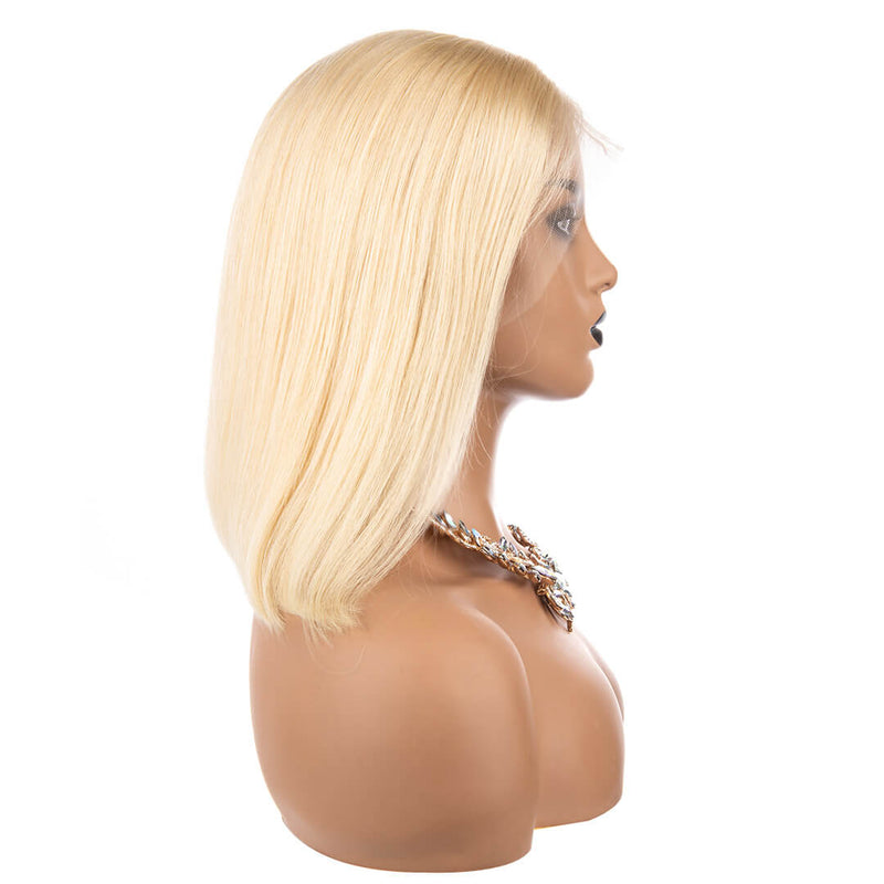 Full Lace Blonde Bob Wigs, right side