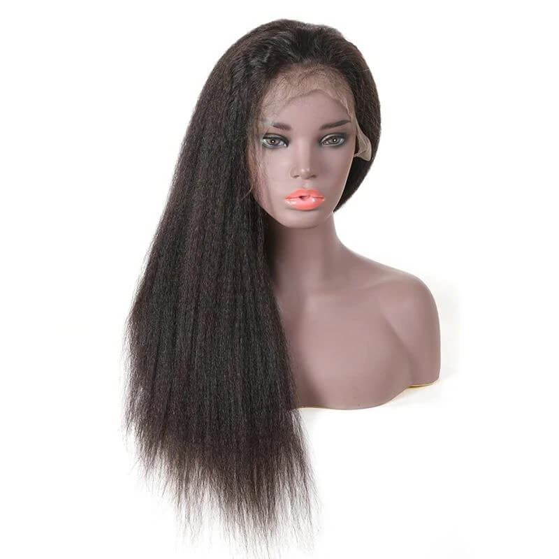 kinky straight hair full lace wigs illusion