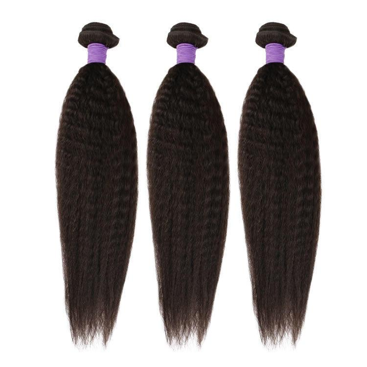 100% human virgin 9a kinky straight hair bundle