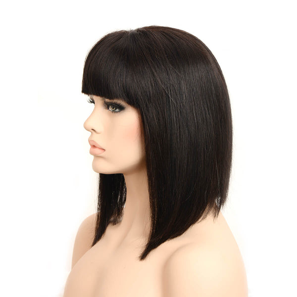 long wigs with bangs left side