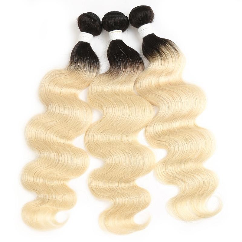 Ombre Blonde Body Wave Human Hair Weave