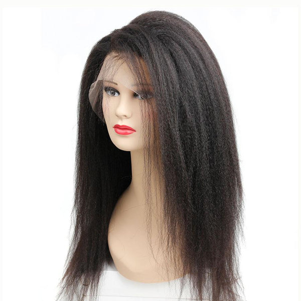 Kinky Straight 360 Lace Frontal Wig