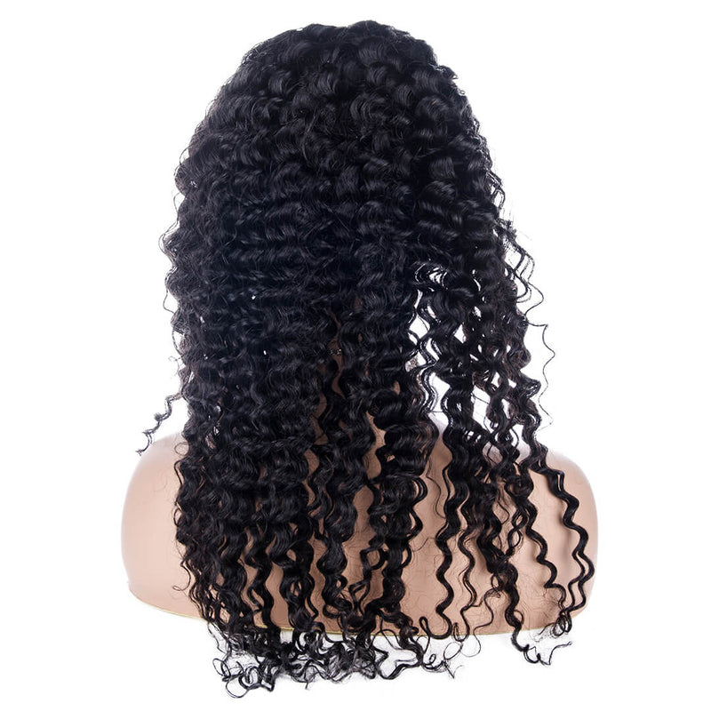 Water Wave Full Lace Wig Human Hair Back | MAGNETIC BLACK