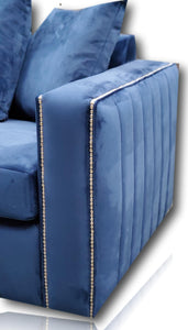Maya Plush Blue 5 Seater