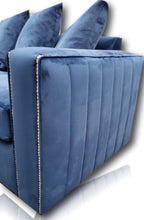 Load image into Gallery viewer, Maya Plush Blue 5 Seater