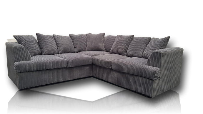 Liverpool Corded Grey Sofa