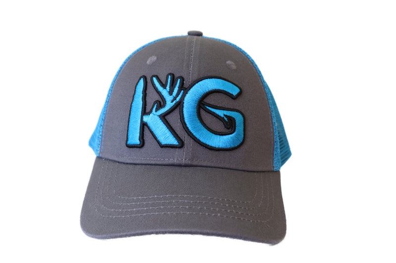 KG Blue/Gray Snapback Hat!