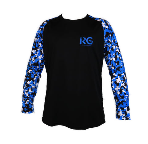 KG Black/Blue Long Sleeve Shirt
