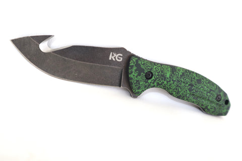 KG Fixed Blade Hunting Knife w/ Gut Hook