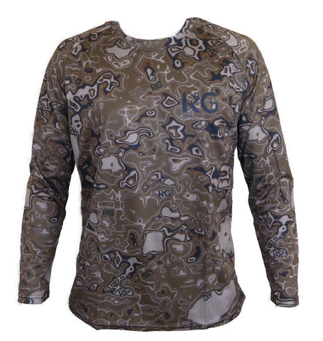 KG Brown Camo Long Sleeve Shirt