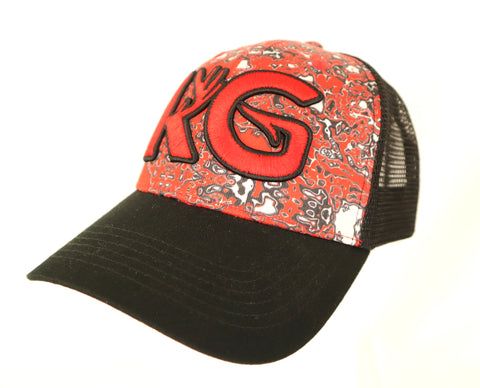 KG Red Camo Snapback Hat