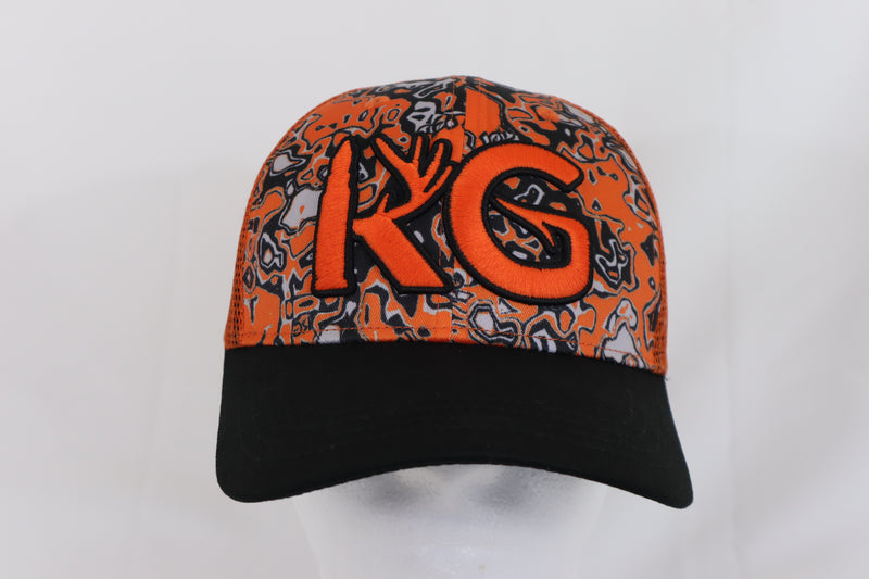 KG Orange Camo Snapback hat!