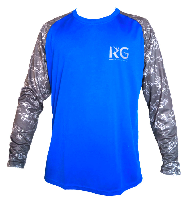 KG Blue/Gray Long Sleeve Shirt