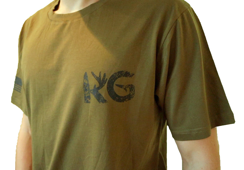KG Army Green T-Shirt (YS & 4X)