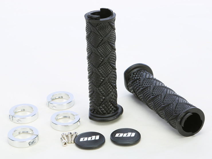 ODI ATV X-TREME LOCKON GRIP BLACK/SILVER