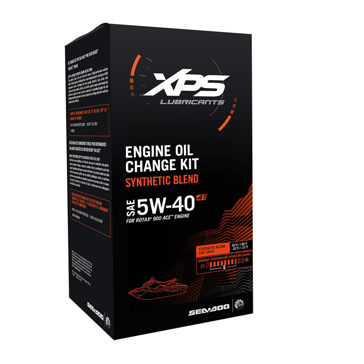 XPS 4T 5W-40 Synthetic Blend Oil Change Kit for Rotax 900 ACE engine 779250