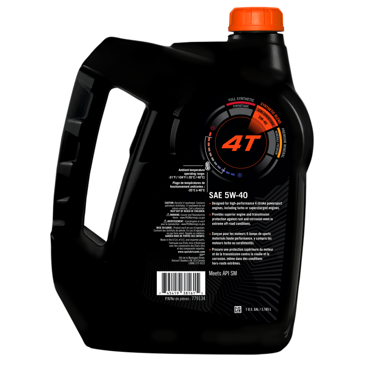 4T 5W-40 Synthetic Blend Oil - 1 US gal. / 3,785 L 779134