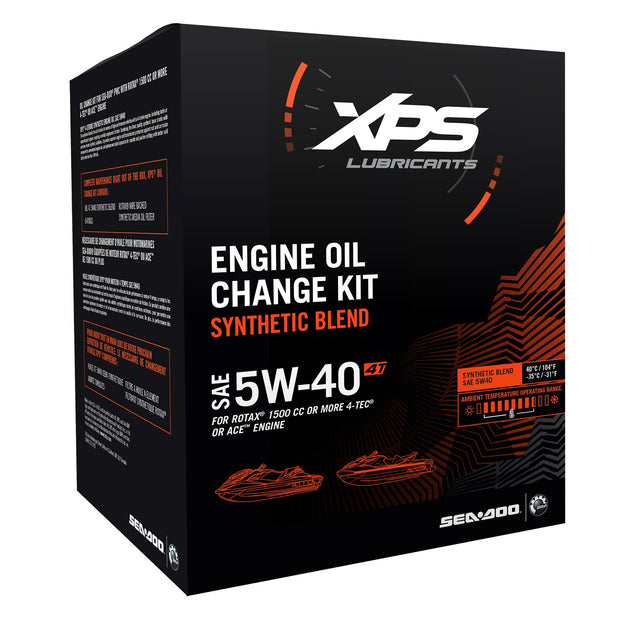 XPS 4T 5W-40 Synthetic Blend Oil Change Kit for Rotax 1500 cc or more engine 779251