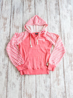 Women's Striped Pullover Hoodie