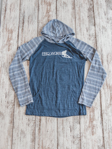 Striped Lightweight Pullover Hoodie