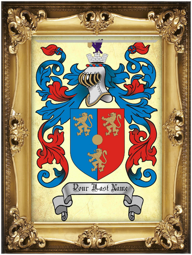Authentic Family Coat of Arms full color - Size:  11