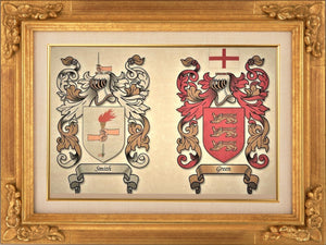 "Single or Double Coat of Arms - Size:  8 1/2 x 11""   CM 21.5 x 28"