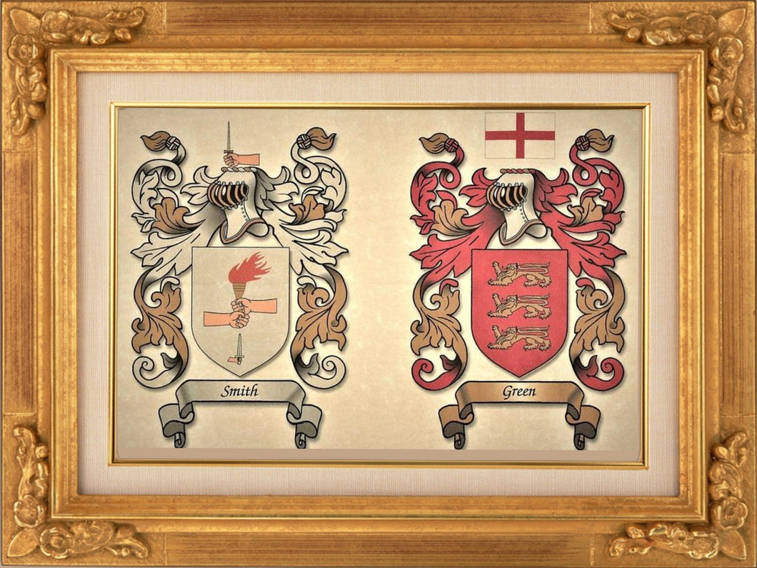 Single or Double Coat of Arms - Size:  8 1/2 x 11