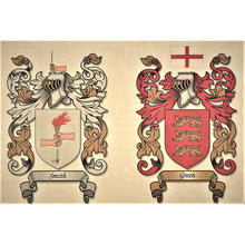 "Load image into Gallery viewer, Single or Double Coat of Arms - Size:  8 1/2 x 11""   CM 21.5 x 28"