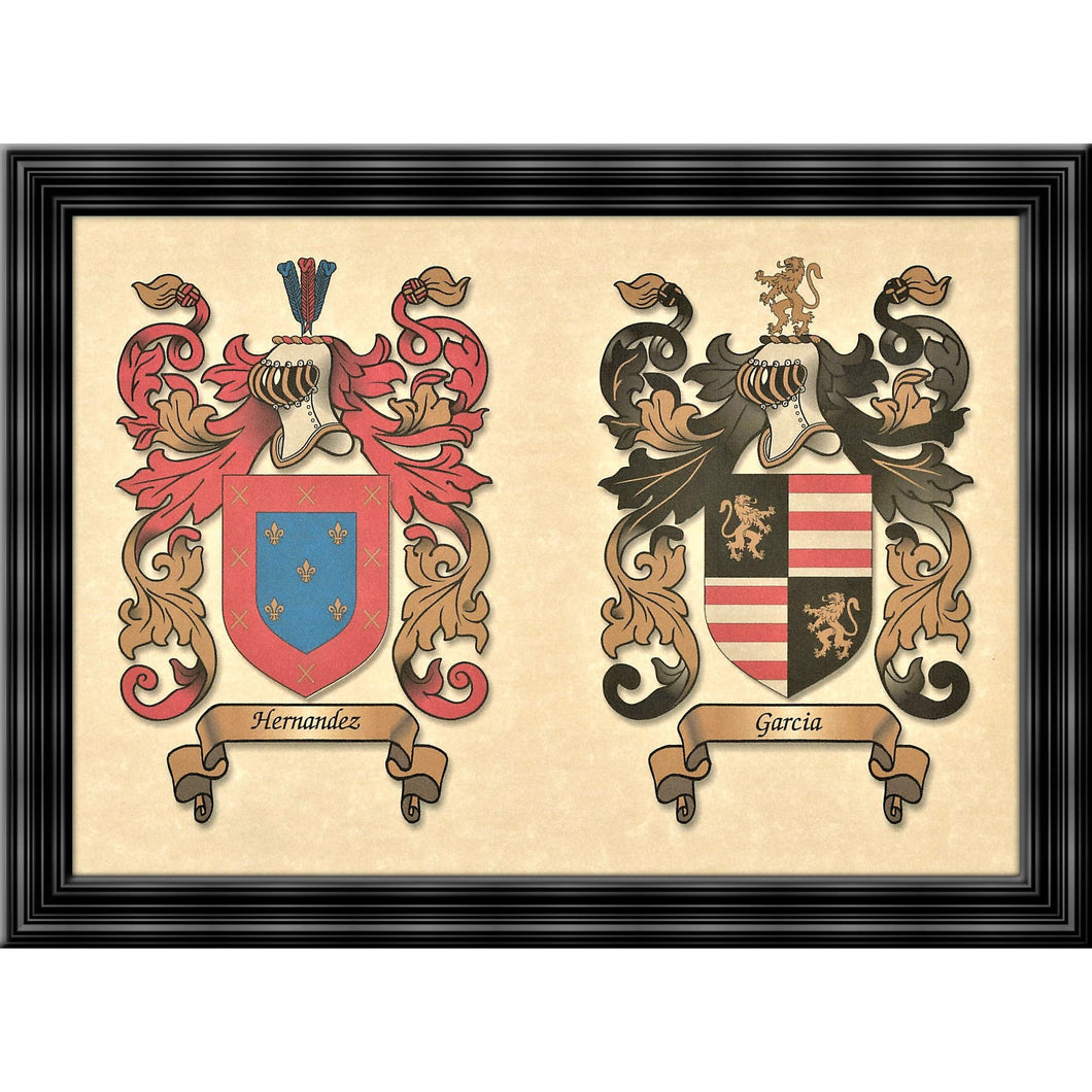 Double Coat of Arms - Size:  8 1/2 x 11