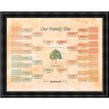 "Load image into Gallery viewer, Family Tree template - Realized on ""Aged-Look"" parchment paper"