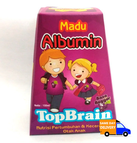 Madu Albumin Top Brain Rasa Anggur 150ml