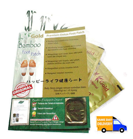 Bamboo Foot Patch Gold