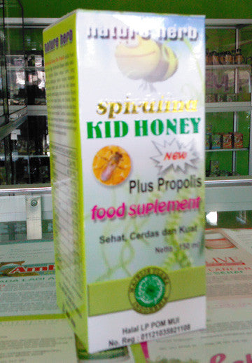 Spirulina Kids Honey Plus Propolis Hijau