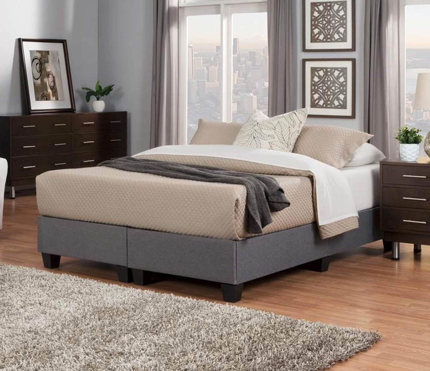 Dr. K Chiro-Core Comfort Dual Core Mattress + Upholstered Foundation