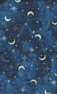 Timeless Treasures I Love You to the Moon and Back 8348-navy