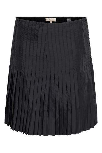 By Timo Skjørt Plisse Mini Skirt Black Sort Sapatos